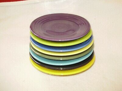 Fiestaware Luncheon Plates mixed colors Set of 8