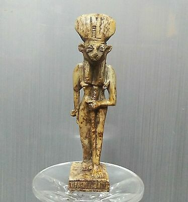 ANCIENT EGYPT ANTIQUE Egyptian stone SEKHMET statue (1500–300 BC