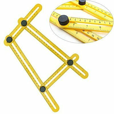 Angle-izer Multi-Angle Ruler Tool Template Four Sided Tile Instrument Measuring
