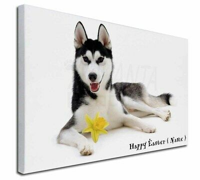 """Personalised Name Husky 30""""x20"""" Wall Art Canvas, Extra Large Pi, AD-H55DA2-C3020"""