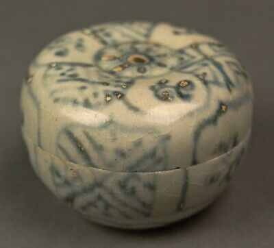 c1490 Ming HOI AN HOARD LID BOX JAR Shipwreck Pottery Ceramic Vietnam Chinese 6