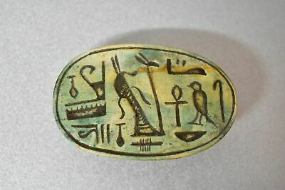 ANCIENT ANTIQUE Egyptian EGYPTIAN large stone scarab F (300-1500 BC
