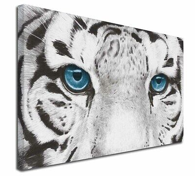 "Siberian White Tiger 30""x20"" Wall Art Canvas, Extra Large Picture P, AT-11-C3020"