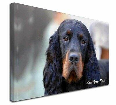 """Gordon Setter 'Love You Dad' 30""""x20"""" Wall Art Canvas, Extra Large , DAD-38-C3020"""