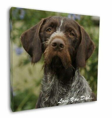 "German Pointer 'Love You Dad' 12""x12"" Wall Art Canvas Decor, Picture, DAD-48-C12"
