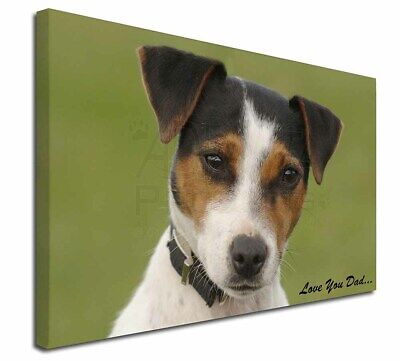 """Jack Russell 'Love You Dad' 30""""x20"""" Wall Art Canvas, Extra Large P, DAD-60-C3020"""
