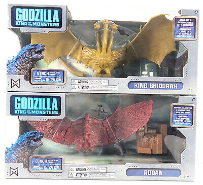 "King Ghidorah + Rodan 6"" Figure Jakks Packfic 2019 Movie Godzilla Monster"
