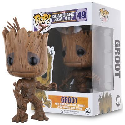 Funko POP! Marvel Guardians of the Galaxy Groot Vinile Figura Giocattolo 49#