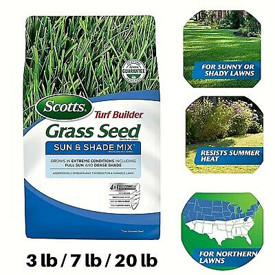 Scotts Turf Builder Grass Seed Sun Shade Mix Grows Best Seed Extreme Conditions