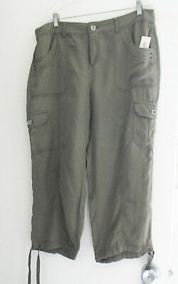 6e0e566810bf4b NEW WOMEN'S STYLE Co Pull-On Cropped Pants Evening Olive Small $49 ...
