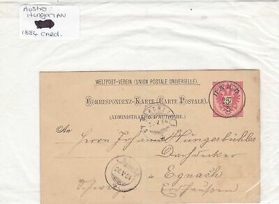 austro hungarian 1884 stamps card Ref 9931