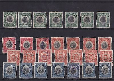 panama 1909 used stamps ref 12079