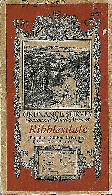 Ordnance Survey Map No 25 RIBBLESDALE. - 1920 - cloth