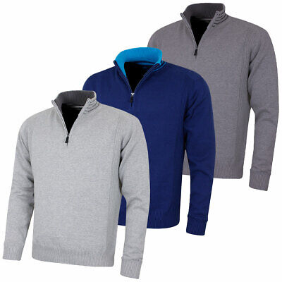 Island Green Mens Golf Windproof 1/2 Zip Thermal Breathable Sweater 53% OFF RRP