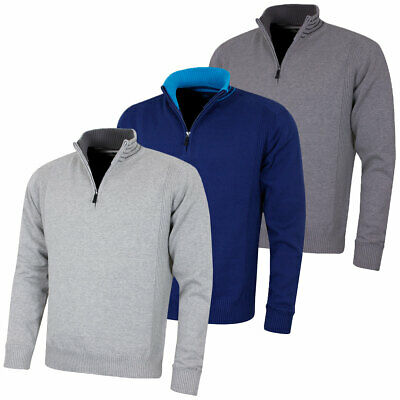 Island Green Mens Windproof 1/2 Zip Thermal Breathable Sweater 49% OFF RRP