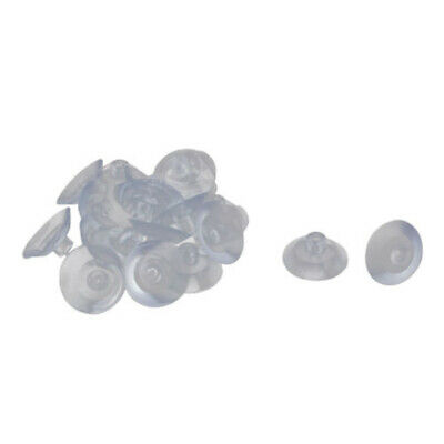 20Pcs Suction Cup Clear Hanger Home Glass Pad Desk 18mm Transparent Up to 3KG