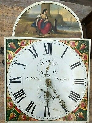 George 111 Oak & Mahogany Long Case Grandfather Clock J Lister Halifax 30 Hour