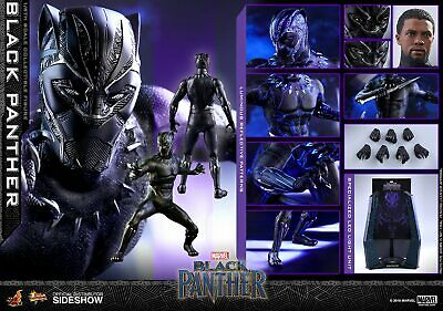 """(US) Hot Toys 1/6 Black Panther Movie MMS470 King T'Challa 12"""" Action Figure"""