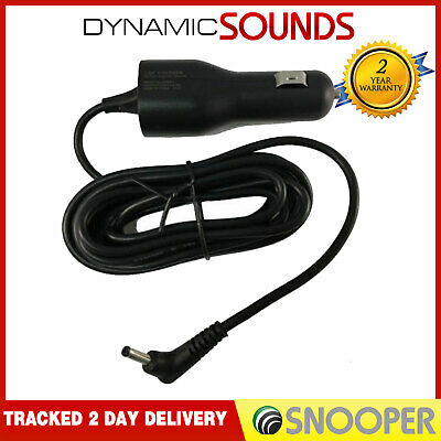 Snooper 12/24V Vehicle Charger Power Cable+Adapter Syrius S6810/S8110 GPS SatNav