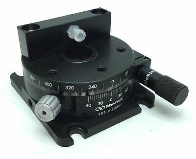 Newport 481-A Series Rotation Stage With Micrometer, 360° Rotary, Load Cap: 178N