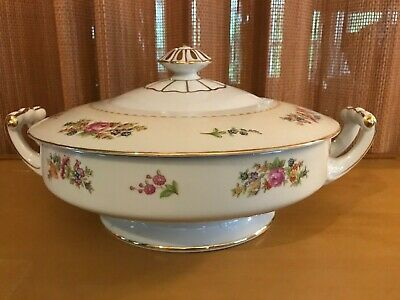Vintage Noritake ROSE CHINA Made in Occupied Japan  ROUND COVERED VEGETABLE BOWL