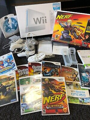Nintendo Wii White Sports Console Complete in Box - Tested System With Games!!