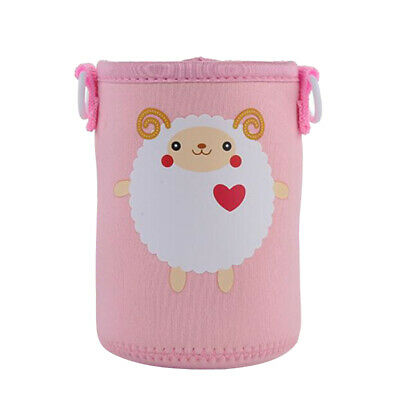 Neoprene 400-600ml Bottle Sleeve Cup Cover Thermal Insulation Pink Sheep