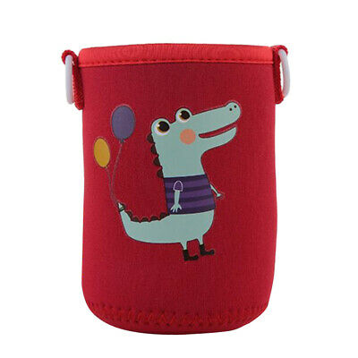 400-600ml Bottle Sleeve Cup Cover Thermal Insulation Pouch Bag Red Crocodile
