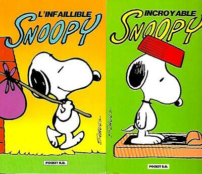 SNOOPY en éditions POCKET B.D. incroyable snoopy + l'infaillible snoopy