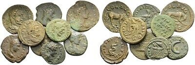 FORVM Lot of 9 Nice Ancient Roman Provincial Bronze Coins 16.3 - 21.5mm