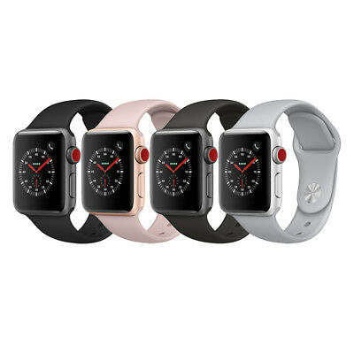 Apple Watch Series 3 GPS + Cellular Aluminum 38mm Case with Sport Loop or Band
