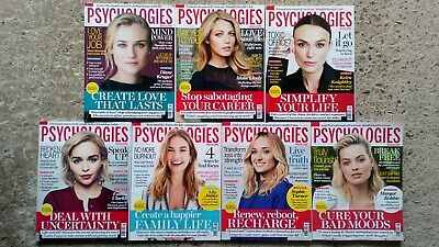 Psychologies magazines 6 issues from March - July 2019