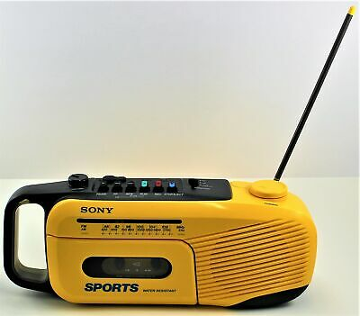 Sony Sports Water Resistant CFM-101 Boombox AM/FM Radio Cassette Player