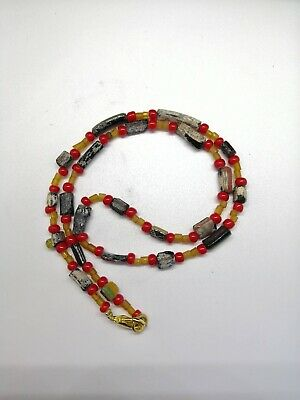 Rare ancient Roman Glass Bead Necklace, 2nd to 4th Century ad Roman Glass Beads