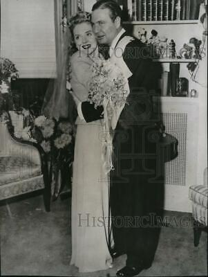 1941 Press Photo Alice Faye and Phil Harris Wed in Texas
