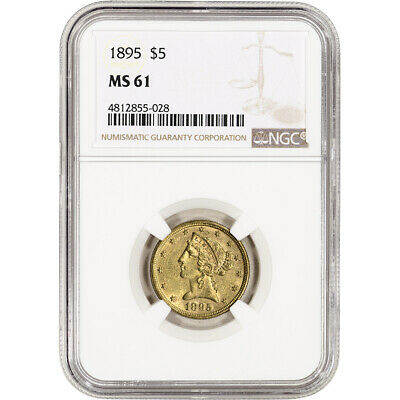 US Gold $5 Liberty Head Eagle - NGC MS61 - Random Date