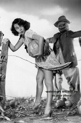 Creepy Halloween PHOTO Scary Scarecrow Sexy Girl Pumpkin Heels Halloween Freak