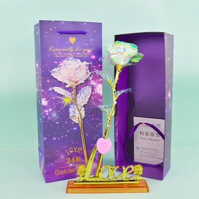 Galaxy Rose with Love Base Valentine Mother's Day Anniversary Gift