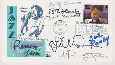 Signed Legends Of Jazz (8 Signatures) Fdc Autographed First Day Cover