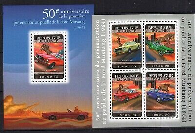 Niger 2014 - Ford Mustang on stamps MNH** AU