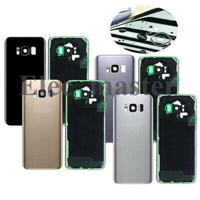 for Samsung Galaxy S8 S8 Plus Back Housing Glass Cover Battery Door +Camera Lens