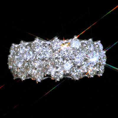 2Ct 100% Natural Diamond 10K White Gold Cluster Ring EFFECT 4Ct RWG160-3