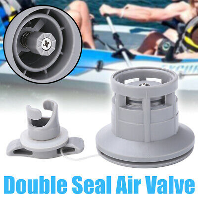 1x double seal 8-groove air valve for inflatable boat raft dinghy kayak canoe JE