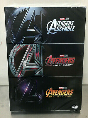 AVENGERS 1-3 DVD TRILOGY Collection  BOX SET Assemble Age of Ultron Infinity War