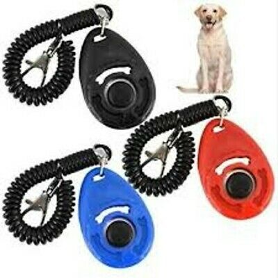 Dog Clicker Pet Trainer Teaching Training Tool For Dogs Clicking KeyRing