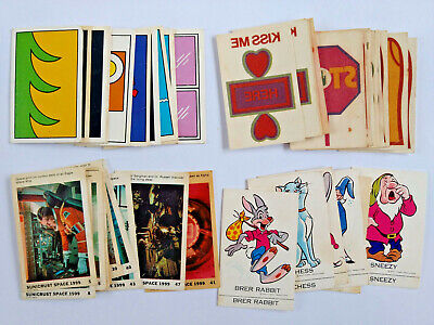 1970s Sunicrust ASSORTED CARDS LOT OF 41 What-Is-It, Space 1999, Slogans, Disney