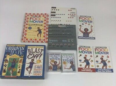 Lot Of Richard Simmons Food Mover Weight Loss System W/ VHS And Cassette