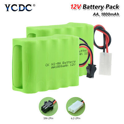 Rechargeable Ni-MH AA 12V Battery Pack Group 1800mAh For LED Light RC Models