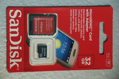 32GB Micro SD SDHC Memory Card with SD Adapter C10 Mobile phones Cameras SanDisk