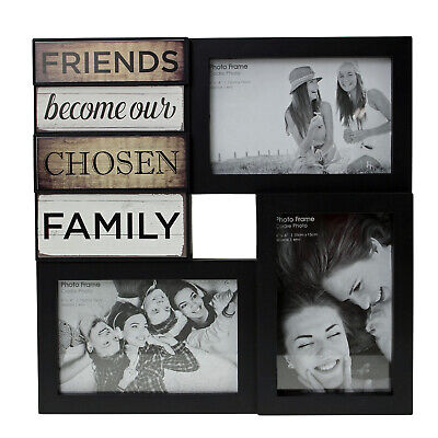 Black Multi Picture Photo Set Frames Wall Collage Gift Home Love Family Friends